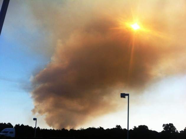Smoke rises over eastern Texarkana