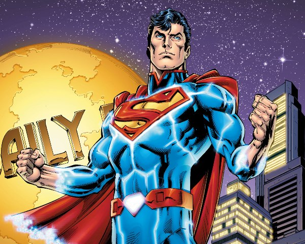 Superman at the Daily Planet